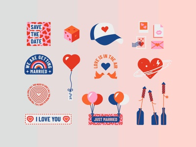 In Love – Icon Set vector illustration love icon valentine vector icon in love i love you heart icon icon set wedding icon badge design vector design icon design logo design