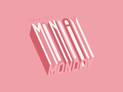 It's Monday again ... editorial type design typeface letter design monochrome 3d lettering vector font 3d type perspective typography experiment monday logo design graphicdesign graphic design typography