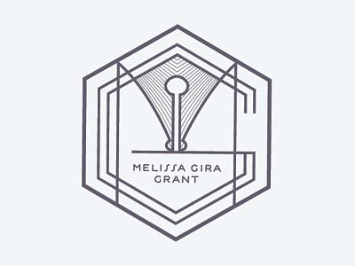 Melissa Gira Grant badge badge branding hexagon logo deco estilo identity