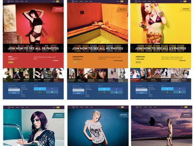 Zivity- Logged Out Sets Page zivity web design color changing ui branding ui photography gallery rainbow