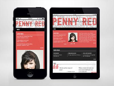 Laurie Penny Website website development ui responsive wordpress