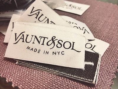 Vaunt & Sol Tags identity branding fashion tags clothing