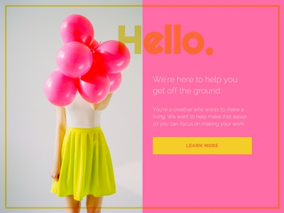 Daily UI 003 - Landing Page daily ui 003 codepen pink balloons ui landing page daily ui dailyui