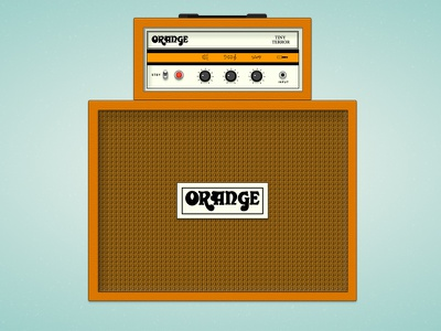 Daily UI 007 - Settings | Orange Amp codevember codepen amplifier settings dailyui daily ui