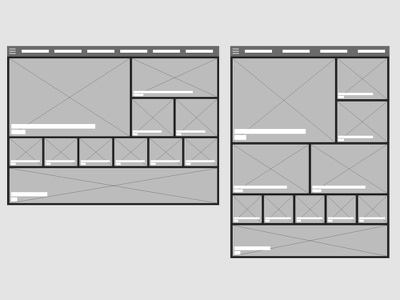 Tablet Wireframes - Adobe XD ipad card layout adobe xd tablet wireframes