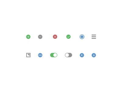 Adobe XD Icons buttons adobe xd flat icons