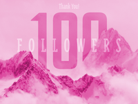 Thank you! 100 Followers