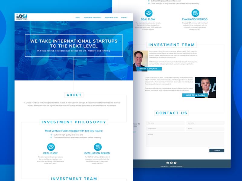 IAGF Homepage.... : Dribbble / website