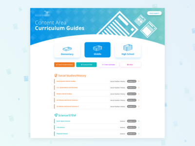 Curriculum Guides Landing Page
