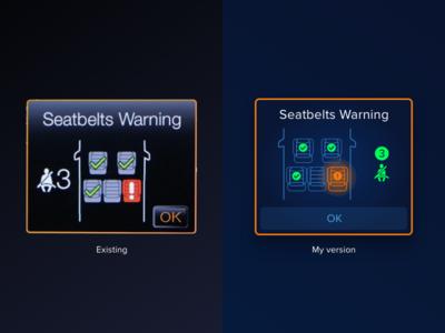 #Exploration Ford Seatbelt UI adobe xd product design ford auto ui car infotainment car info seatbelt car warning car dashboard car ui