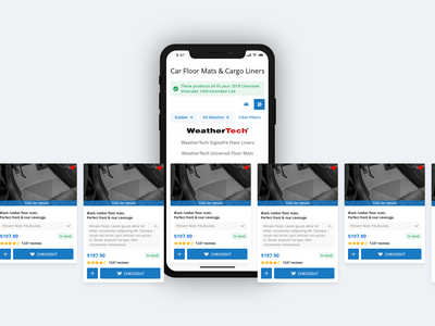 Product Card Carousel Mobile product design online shopping checkout adobe xd ui auto car parts filters mobile shopping ecommerce cards product cards product carousel car accessories