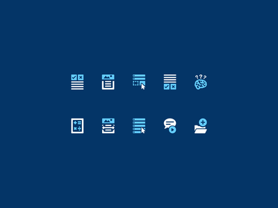 Icons for student lesson page reading edtech article poll folder thought brain drag and drop math extras vocabulary adobe xd illustrator elearning icons ui iconset icons
