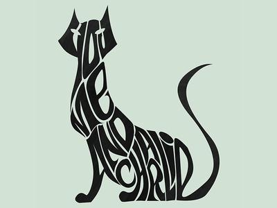 Cat typography