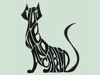 Cat typography