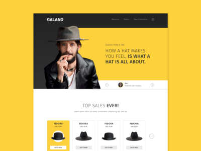 Galano Hats & Ties