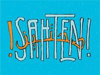 Sa7ten! Arabic/English lettering exploration