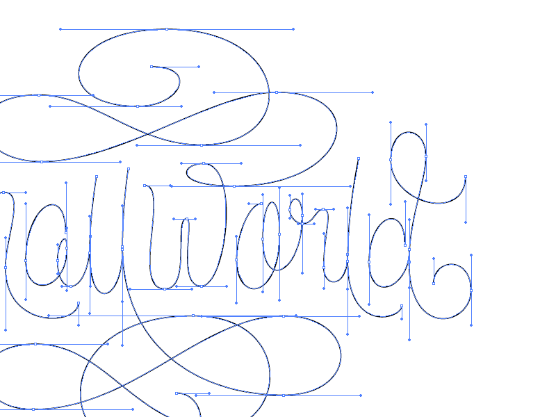 90º Beziers 90 degree beziers 90 degrees typography right angles wip vector points lettering beziers