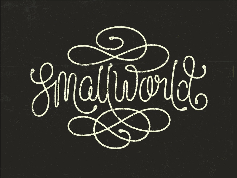 Smallworld Lettering  drawing letters swashes illustrative typography script lettering