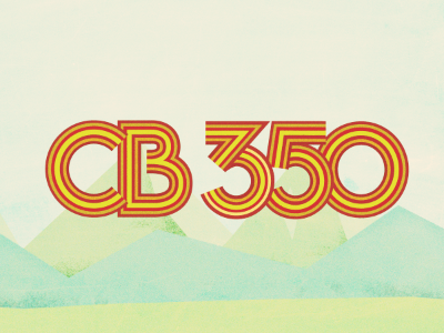 CB 350 typography type numbers cb 350 honda motorcycle landscape