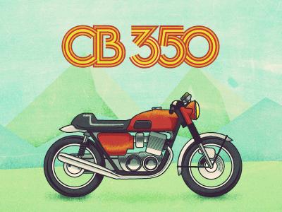 CB350 Desktop desktop background honda cb350 cb350 illustration honda vintage illustrator
