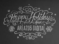Holiday Chalk Wall Design