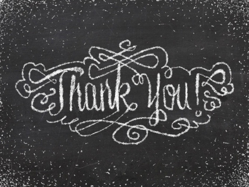 Thank You!  chalk type typography hand drawn chalkwall thank you
