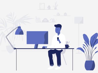 Home Workspace Illustration
