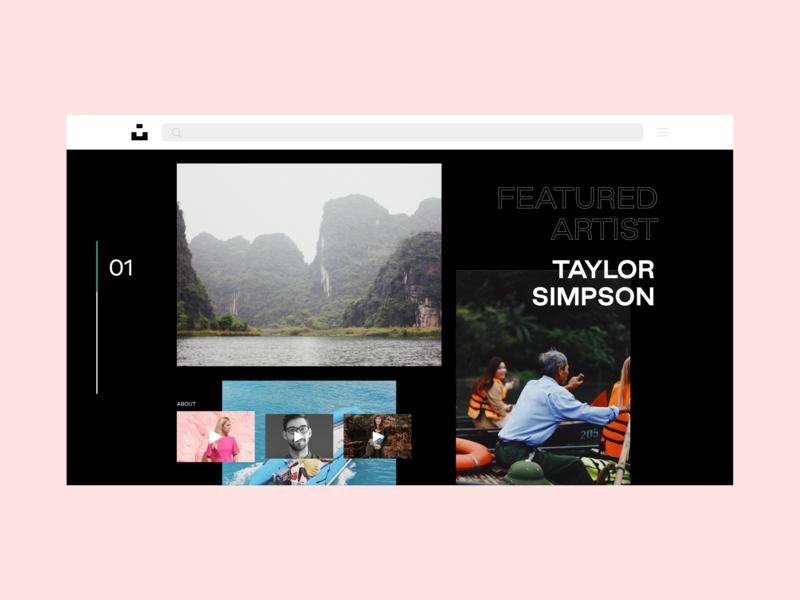 Daily UI Challenge 003: Landing Page — Unsplash type branding minimal website animation web app typography web design design ux ui logo