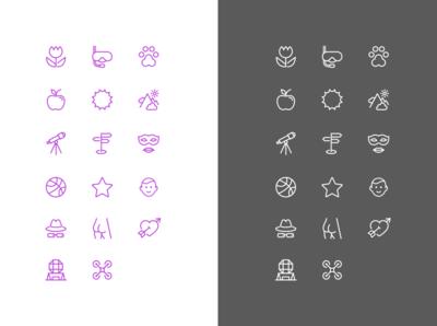 Utopyc branding icon set