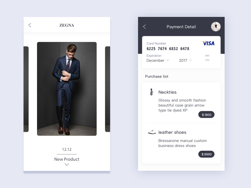Private order men shot order dribbble concept application