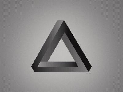 Temporary Temple Rebound geometric triangle 3d illustration