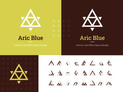 Aric Blue Logo Design