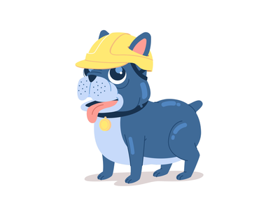 Traxxeo Dog character after effects cartoon illustration character design loop animated gif vector