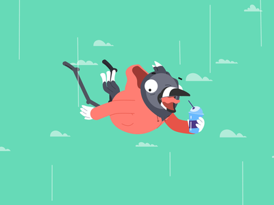 ARSF - Driving Clip flat cartoon character animation character design after effects illustration vector