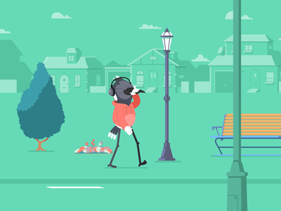 ARSF - Walking Clip character flat cartoon character animation character design after effects vector