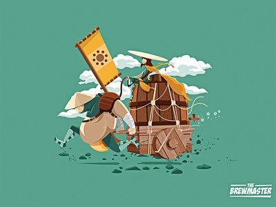The Brewmaster illustrator vector illustration character design