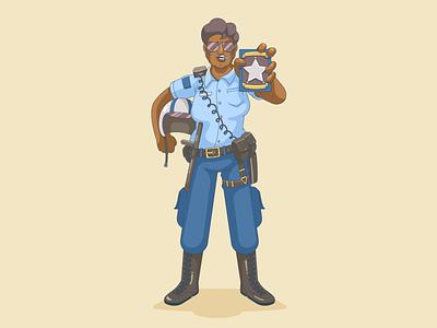 The Cop woman law police cop cartoon vector character design