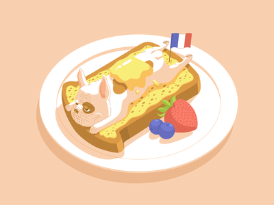 French (Bulldog) Toast cute dining cuisine bread toast france food animals dog frenchies french bulldog