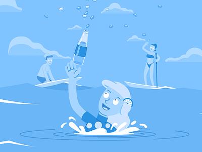 Mentos - Lemonade Flavour candy lemonade soda flat cartoon illustration design character design vector
