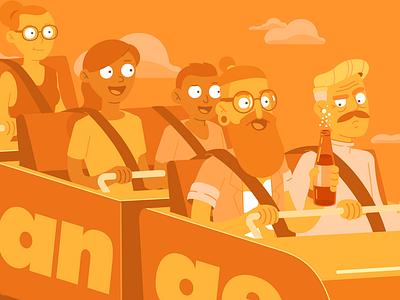 Mentos - Orange Flavour candy orange soda flat character cartoon character design illustration vector