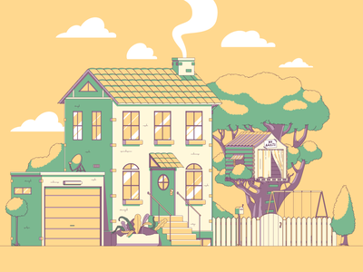 House design illustration vector