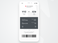 Daily UI Challenge #024 - Boarding Pass