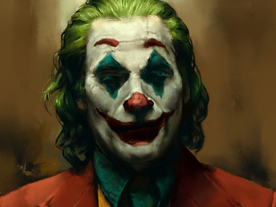 JOKER | Digital painting villain first post fineart movie portrait painting fanart dccomics digital painting joker