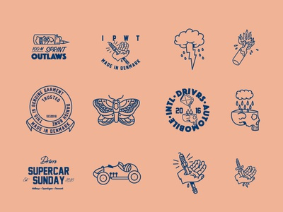Drivrs Marks branding wad vector design thevisualclub graphic design illustration agency symbols marks drivrs