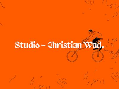 New website front bike vector logo branding design illustration graphic design bicycle front website banner new wad studio