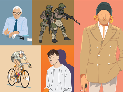 Illustrations persona military cycling people vector wad design illustration graphic design
