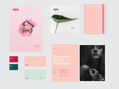EYS Brand ux ui beauty eys typography vector logo wad branding design graphic design
