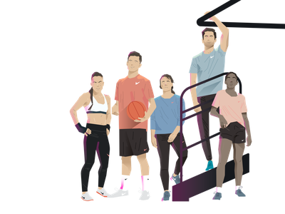 Team wad branding illustration design graphic design activewear sports nike