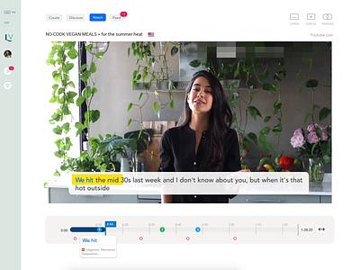 LINGVO Youtube Language Learning learning app uiux ui