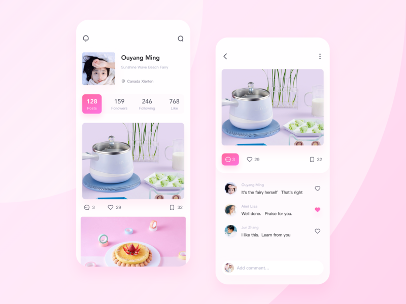 Light Meals Design food app homepage ui ux